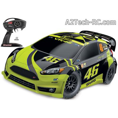 FORD FIESTA ST RALLY VR46 EDITION - 4x4 - 1/10 BRUSHED TRAXXAS_Réf_74064-1