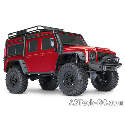 TRX-4 LAND ROVER DEFENDER Rouge TRAXXAS_82056-4-RED