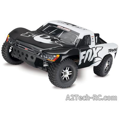 SLASH 4x4 Brushless FOX (Noir et Blanc) TRAXXAS_68086-4-FOX