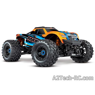 MAXX - 4x4 - ORANGE - 1/10 BRUSHLESS - TSM - SANS AQ/CHG 89076-4-ORNG_TRAXXAS