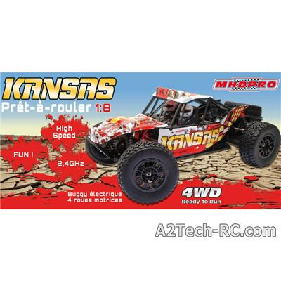 KANSAS Desert Buggy RTR 1/8 - Rouge 6000016_MHD voitures